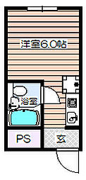 ロイヤル南森町[2階]の間取り