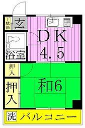 SAKURA−A[3階]の間取り