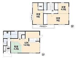 成長に合わせたフレキシブルな間取。2階主寝室13.5帖は成長に合わせて自由自在に間取を調整。