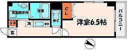 DAP太子橋 6階1Kの間取り