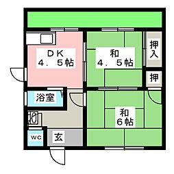 [一戸建] 愛知県名古屋市守山区永森町 の賃貸【/】の間取り
