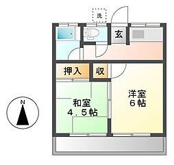神奈川県川崎市宮前区馬絹1の賃貸アパートの間取り