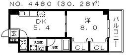 イーストコーストヴィラ[2階]の間取り