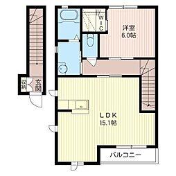 DAITA K[2階]の間取り