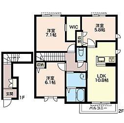 レフィシア3[1階]の間取り