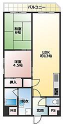 神戸湊アパートメント[306号室号室]の間取り