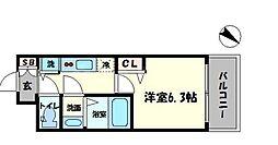 アドバンス大阪ドーム前アヴェニール[6階]の間取り