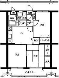 ハーベスト2号館[3階]の間取り
