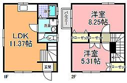 [一戸建] 茨城県那珂郡東海村大字村松 の賃貸【/】の間取り