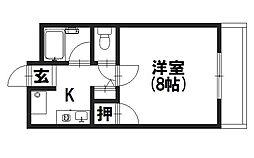 ファイブ永井[2階]の間取り