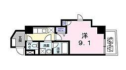 東京都渋谷区東3丁目の賃貸マンションの間取り