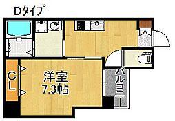 L'ecrin KISINOSATOHIGASI[6階]の間取り