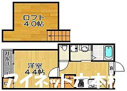 福岡市地下鉄七隈線 六本松駅 徒歩7分の賃貸アパート 1階1SKの間取り