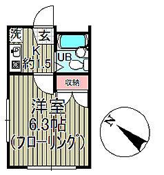 ドルフィン鎌倉II[2階]の間取り