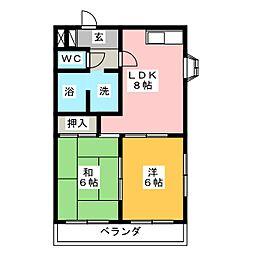 メゾン桜井[1階]の間取り