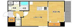 仮称城東区中央マンション[6階]の間取り