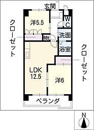 愛知県あま市新居屋上古川の賃貸マンションの間取り