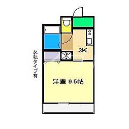 コーポ成岡II[1階]の間取り