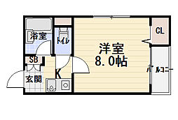 サンフォレスト守口[2階]の間取り