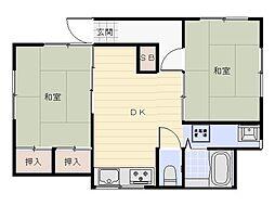 庄司アパート[1F号室]の間取り