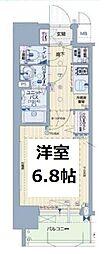 グランカリテ塚本[6階]の間取り
