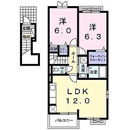 プロムナード S棟[2階]の間取り