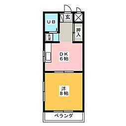 コーポアクトメタル[3階]の間取り