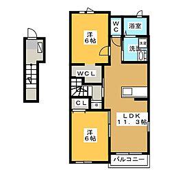 レ・セーナ II[2階]の間取り