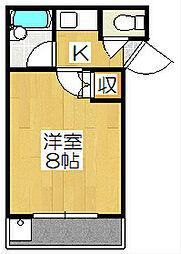 京都府京都市中京区二条通堀川東入矢幡町の賃貸マンションの間取り