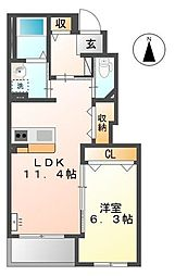 プレーン[1階]の間取り