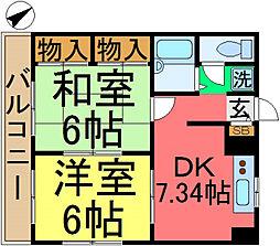 エステートピア66[2階]の間取り