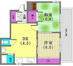 アパートメントK[301号室]の間取り