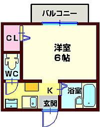 Estium Tsukasa[2階]の間取り