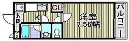センペル・リンクウ[206号室]の間取り