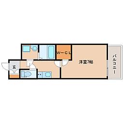 阪神本線 尼崎駅 徒歩6分の賃貸マンション 14階1Kの間取り