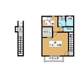 仮)ソレイユパルク11番館[2階]の間取り