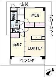 プリリアンスTAKEKOSHI[1階]の間取り