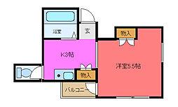 大阪府東大阪市菱江5の賃貸マンションの間取り
