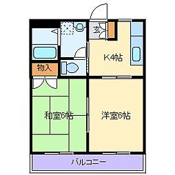 ヤマヨシマンション[306号室]の間取り
