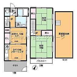 [テラスハウス] 東京都大田区上池台2丁目 の賃貸【東京都 / 大田区】の間取り