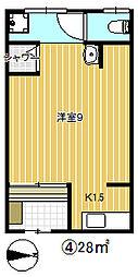 [テラスハウス] 大阪府大阪市鶴見区横堤2丁目 の賃貸【大阪府 / 大阪市鶴見区】の間取り