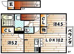 フラワーヒルズ藤[2階]の間取り