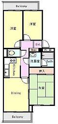 ライオンズマンション自由ヶ丘第2[3階]の間取り