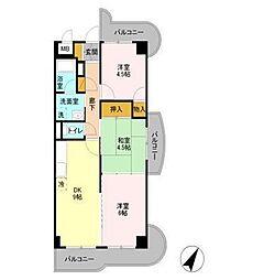 エクセルハイム海宝[1階]の間取り