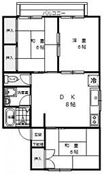 セジュール西本[2階]の間取り