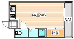メゾンドール箱崎[1階]の間取り
