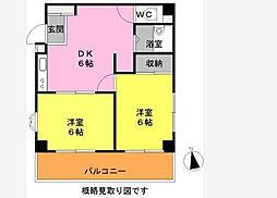 神奈川県横浜市港南区大久保1丁目の賃貸マンションの間取り