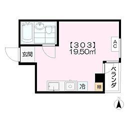 F BOX HOUSE[303号室]の間取り
