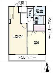 シティハイム三条[2階]の間取り