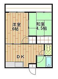 樋口アパート[202号室]の間取り